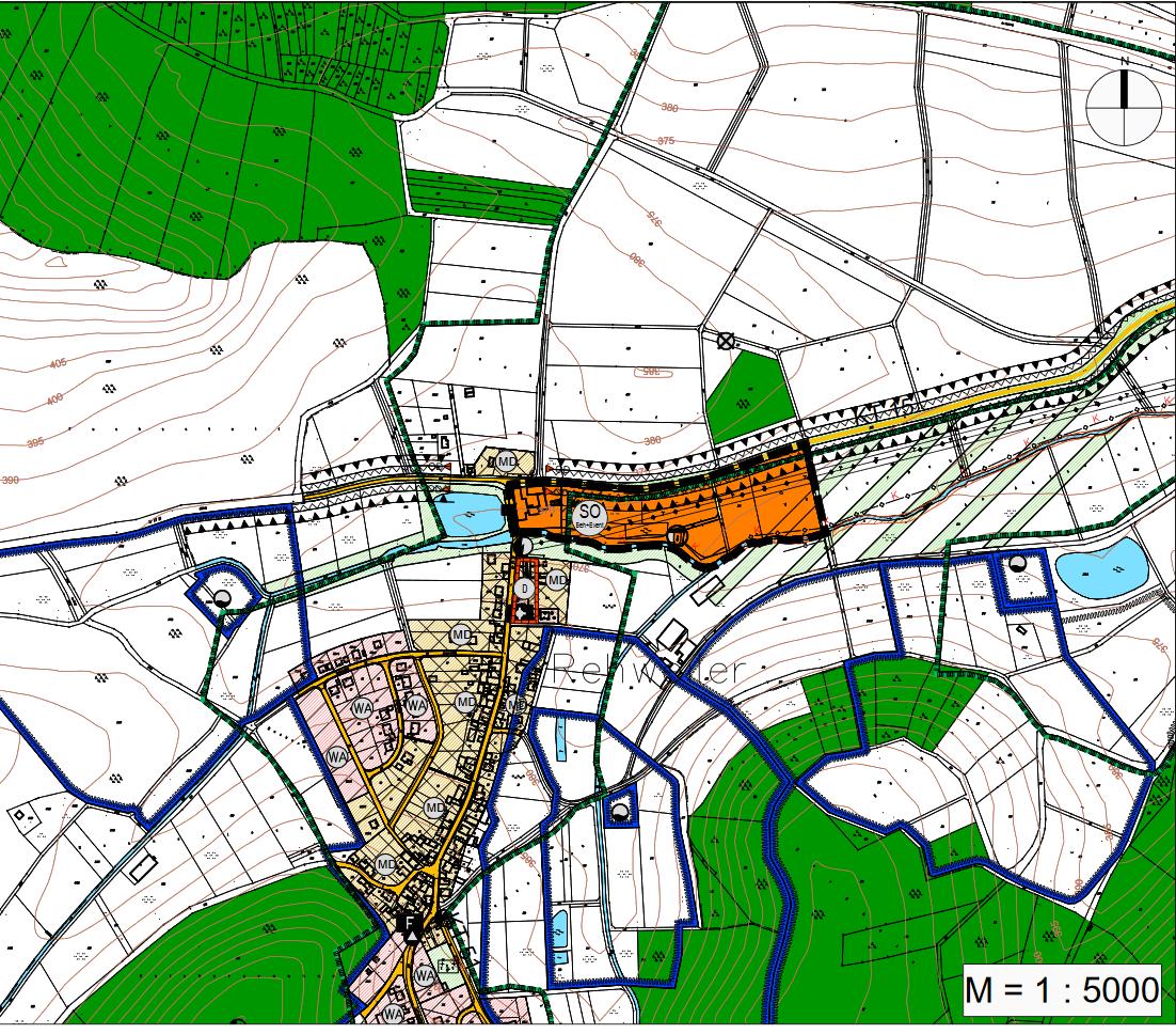 16. Änderung Des Flächennutzungsplanes Des Markt Geiselwind